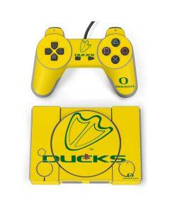 Oregon Ducks Logo PlayStation Classic Bundle Skin