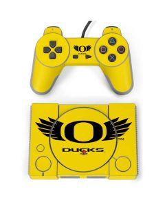 Oregon Ducks Yellow PlayStation Classic Bundle Skin