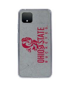 OSU Ohio State Buckeye Character Google Pixel 4 Clear Case