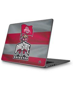 OSU Ohio State Buckeyes Flag Apple MacBook Pro 17-inch Skin