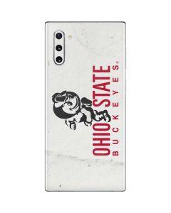 OSU Ohio State Buckeyes Light Grey Galaxy Note 10 Skin