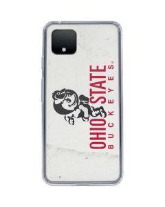 OSU Ohio State Buckeyes Light Grey Google Pixel 4 Clear Case
