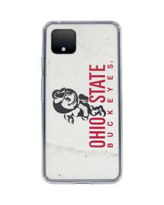 OSU Ohio State Buckeyes Light Grey Google Pixel 4 Clear Case