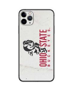 OSU Ohio State Buckeyes Light Grey iPhone 11 Pro Max Skin