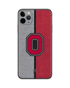 OSU Ohio State Buckeyes Split iPhone 11 Pro Max Skin