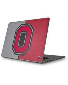 OSU Ohio State Buckeyes Split Apple MacBook Pro 17-inch Skin