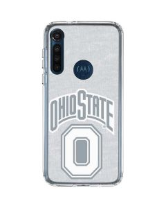 OSU Ohio State Faded Moto G8 Power Clear Case