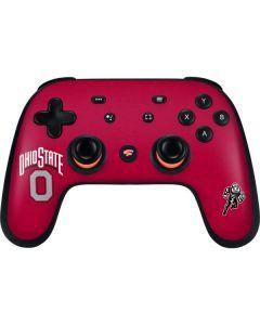 OSU Ohio State O Google Stadia Controller Skin