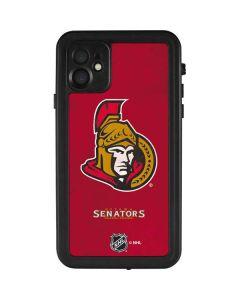 Ottawa Senators Distressed iPhone 11 Waterproof Case