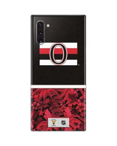 Ottawa Senators Retro Tropical Print Galaxy Note 10 Skin
