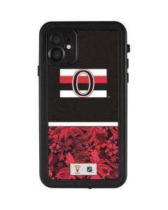 Ottawa Senators Retro Tropical Print iPhone 11 Waterproof Case