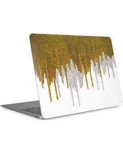 Paint Splatter Gold Apple MacBook Air Skin