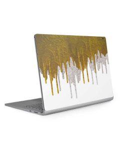 Paint Splatter Gold Surface Book 2 15in Skin