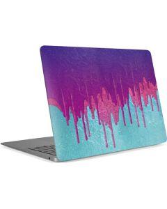Paint Splatter Purple Apple MacBook Air Skin
