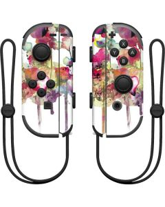 Painted Flowers Nintendo Joy-Con (L/R) Controller Skin