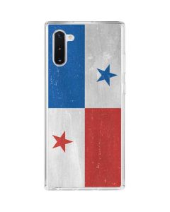 Panama Flag Distressed Galaxy Note 10 Clear Case