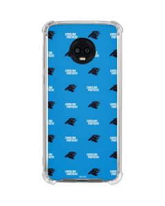 Carolina Panthers Blitz Series Moto G6 Clear Case