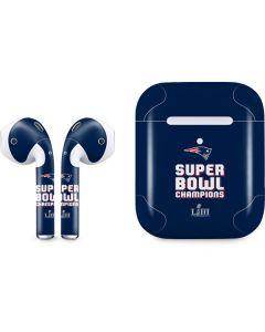 Patriots Super Bowl LIII Champions Apple AirPods 2 Skin