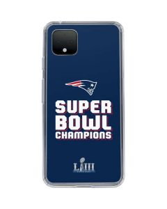 Patriots Super Bowl LIII Champions Google Pixel 4 XL Clear Case