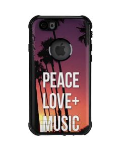 Peace Love And Music iPhone 6/6s Waterproof Case