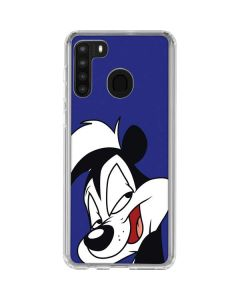 Pepe Le Pew Zoomed In Galaxy A21 Clear Case
