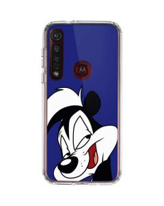 Pepe Le Pew Zoomed In Moto G8 Plus Clear Case