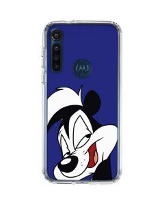 Pepe Le Pew Zoomed In Moto G8 Power Clear Case
