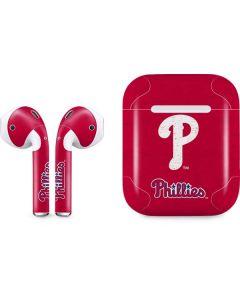 Philadelphia Phillies - Solid Distressed Apple AirPods 2 Skin