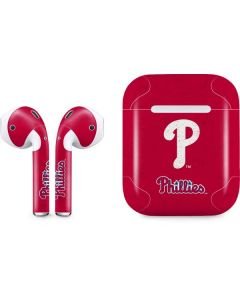 Philadelphia Phillies - Solid Distressed Apple AirPods Skin