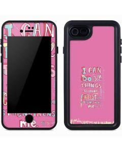 Philippians 4:13 Pink iPhone 7 Waterproof Case