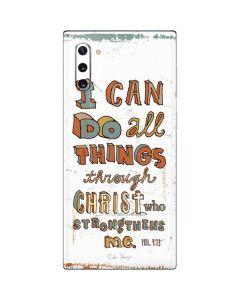 Philippians 4:13 White Galaxy Note 10 Skin