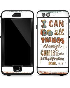 Philippians 4:13 White LifeProof Nuud iPhone Skin