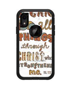 Philippians 4:13 White Otterbox Defender iPhone Skin