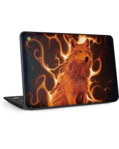 Phoenix Wolf HP Chromebook Skin