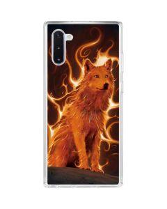 Phoenix Wolf Galaxy Note 10 Clear Case