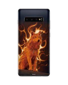 Phoenix Wolf Galaxy S10 Plus Skin