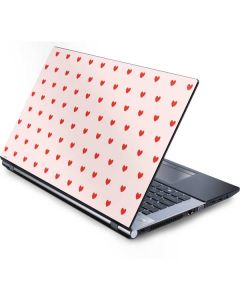 Pink and Red Hearts Generic Laptop Skin