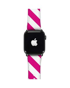 Pink and White Geometric Stripes Apple Watch Case