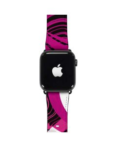 Pink and White Hipster Apple Watch Band 42-44mm