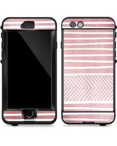 Pink and White Stripes LifeProof Nuud iPhone Skin