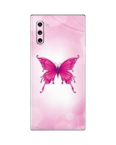 Pink Butterfly Galaxy Note 10 Skin