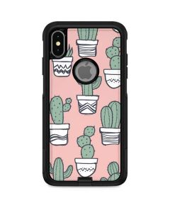 Pink Cactus Otterbox Commuter iPhone Skin