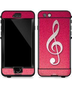 Pink Glitter Music Note LifeProof Nuud iPhone Skin