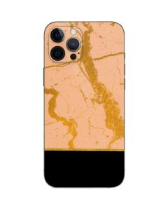 Pink Gold and Black Marble iPhone 12 Pro Max Skin