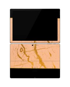 Pink Gold and Black Marble Surface Pro 7 Skin