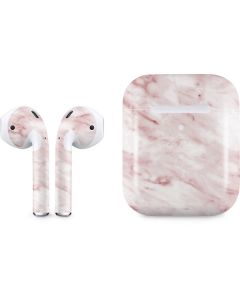 Pink Marble Apple AirPods 2 Skin