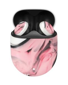 Pink Marble Ink Google Pixel Buds Skin