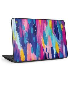 Pink Sparkle Brush Stroke HP Chromebook Skin