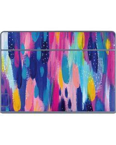 Pink Sparkle Brush Stroke Galaxy Book Keyboard Folio 12in Skin