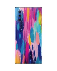 Pink Sparkle Brush Stroke Galaxy Note 10 Skin